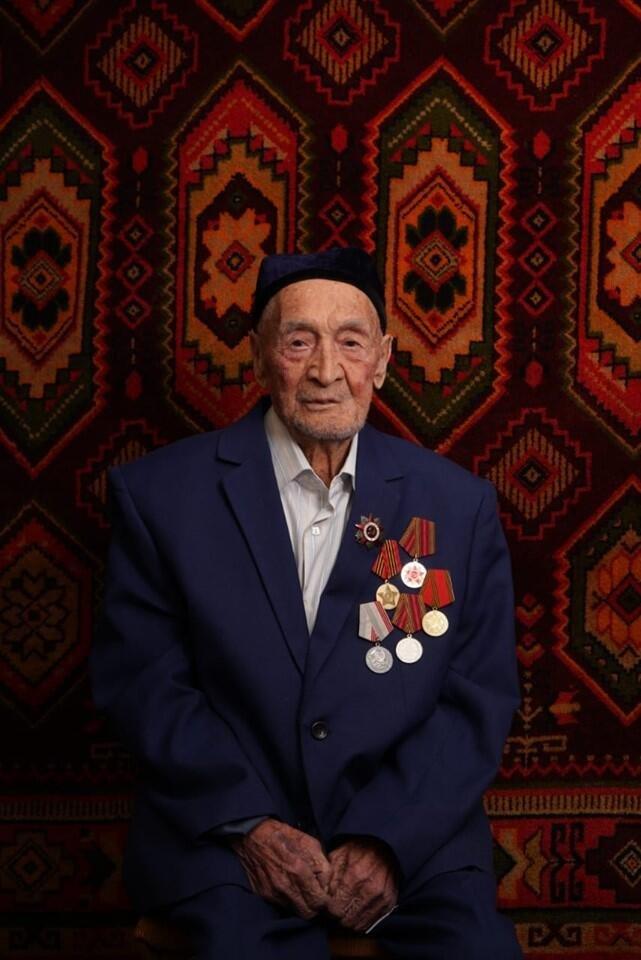 Ветеран Великой Отечественной войны Гани Ергешев.