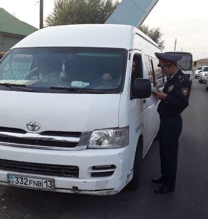 Полицейскими Туркестанской области выявлено около 300 нарушений ПДД в ходе ОПМ «Автобус», фото-7