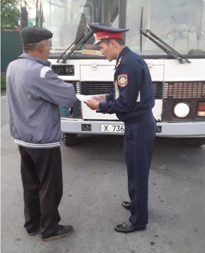 Полицейскими Туркестанской области выявлено около 300 нарушений ПДД в ходе ОПМ «Автобус», фото-6