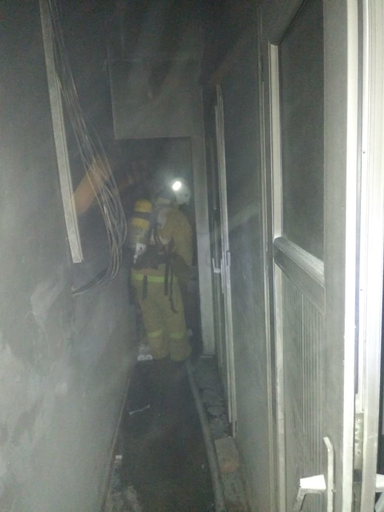 Пожар произошёл в здании вокзала Шымкента, фото-2, КЧС МВД РК